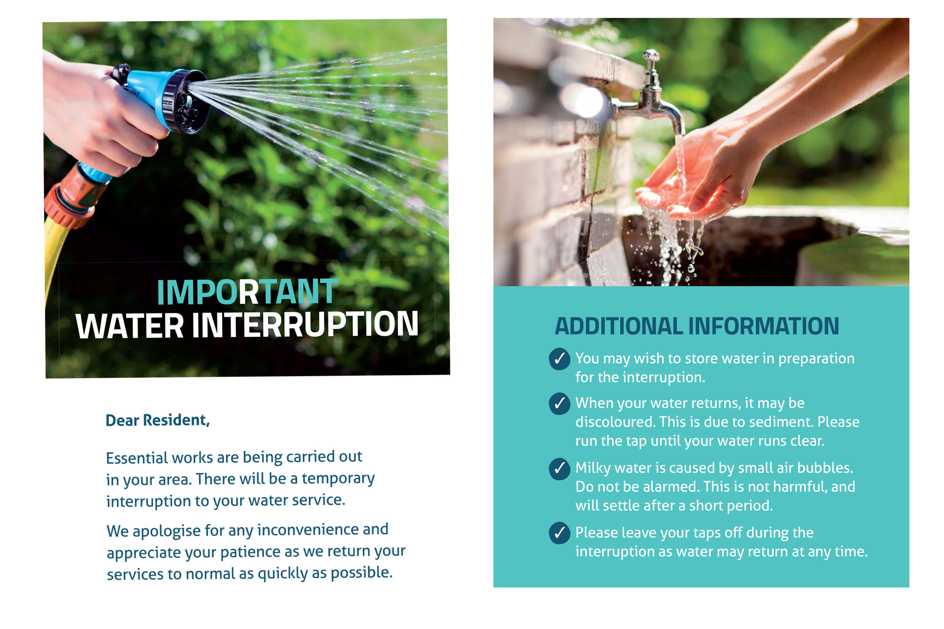 water interruption